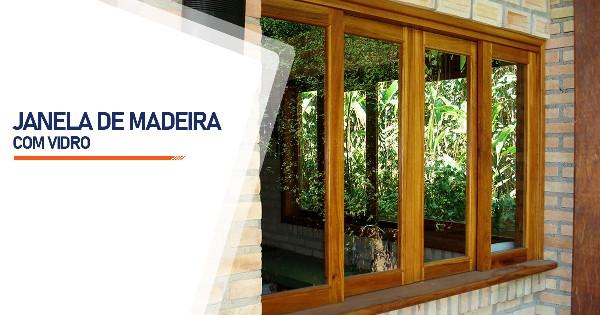 Janela De Madeira Com Vidro RJ