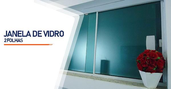 Janela De Vidro 2 Folhas RJ