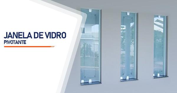 Janela Pivotante De Vidro RJ