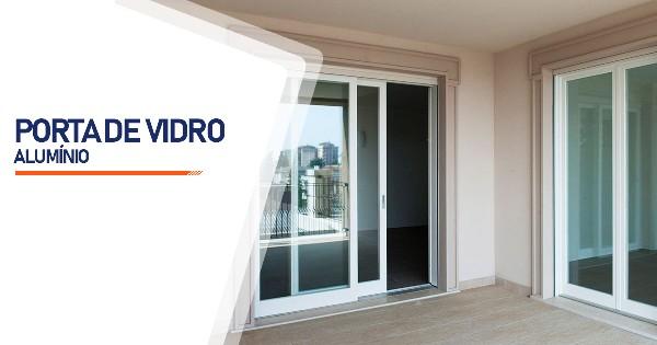 Porta De Vidro Aluminio RJ