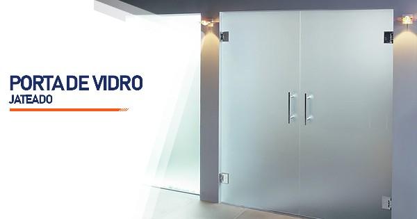 Porta De Vidro Jateado RJ