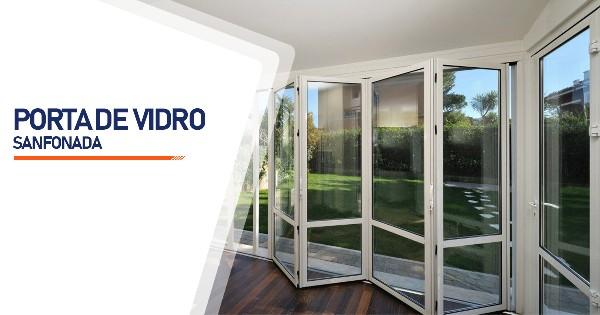 Porta Sanfonada De Vidro RJ