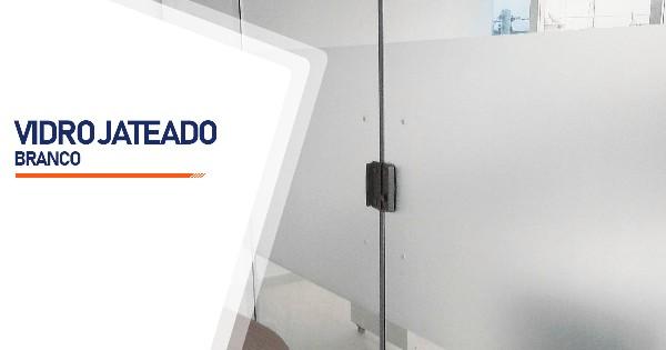 Vidro Jateado Branco RJ
